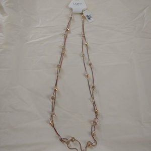 NWT Loft Mixed  Stones Double Strands Necklace